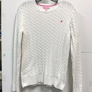 Lily Pulitzer white sweater